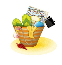 beach bag vector image vector image