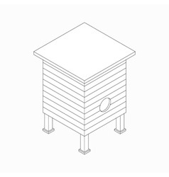 Beehive icon isometric 3d style vector