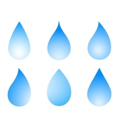 blue droplet set vector image vector image
