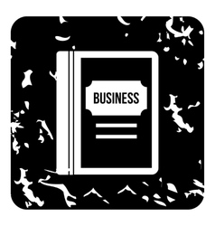 Business book icon grunge style vector image