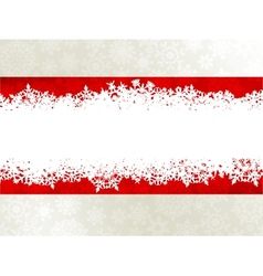 Christmas background with a red ribbon EPS 10 vector image