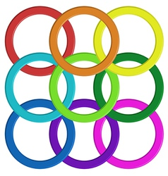 Colorful ring pattern vector image vector image