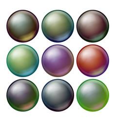 dark sphere set opaque spheres with vector image vector image