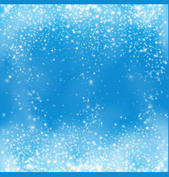 falling snow on the blue background snowflake vector image
