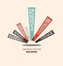 Flat design buildings vector