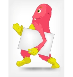 Funny Monster Courier vector image vector image