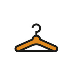 hanger icon on white background vector image vector image