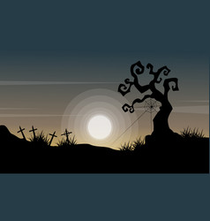 happy halloween day background style vector image