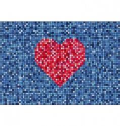 mirror heart vector image