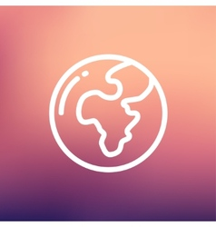 Modern globe thin line icon vector image vector image