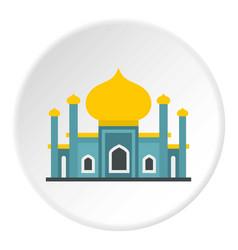 muslim mosque icon circle vector image
