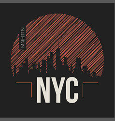 new york city graphic t-shirt design tee print vector image vector image