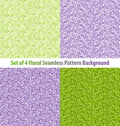 Set Textured Natural Seamless Patterns Backgrounds vector image vector image