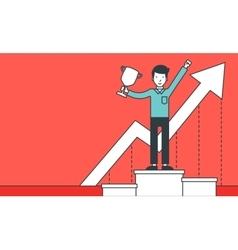 Successful development of business vector