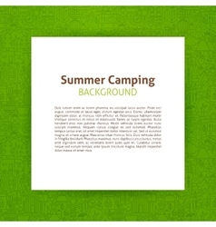 Summer camp paper template vector