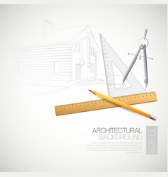 The architectural drawing vector