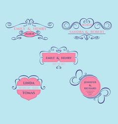 wedding badge vector image