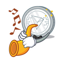 With trumpet tron coin character cartoon vector