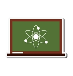 Atom structure icon vector