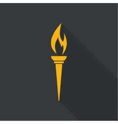 icon of torch vector image