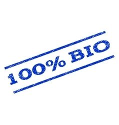 100 percent bio watermark stamp vector