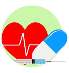 Heart reanimation icon vector