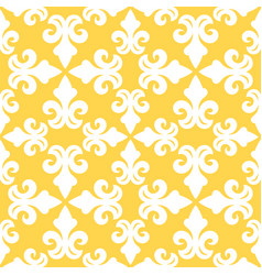 Yellow french ornamental ceramic tile vector