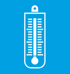 Thermometer icon white vector
