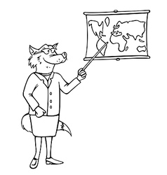 teacher bw vector image