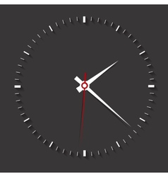 Clock symbol on dark backgroundclean vector