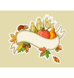 Harvest thanksgiving flat banners vector