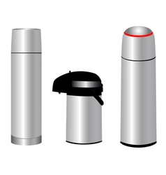 Three thermos vector