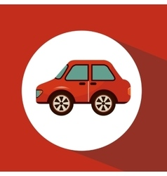 Car isolated icon vector