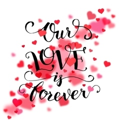 Our love is forever typography card vector