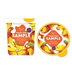 Mango yogurt packaging design template vector