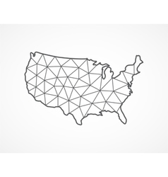 Usa map in geometric style vector
