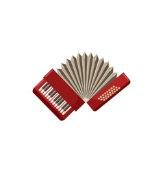 Red accordion icon cartoon style vector