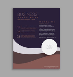 Amazing brown and purple business brochure in a4 vector