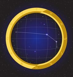 Aries star horoscope zodiac in fish eye vector