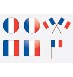 badges with flag of France vector image