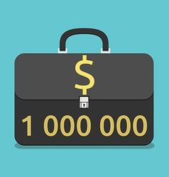 Briefcase with million dollars vector