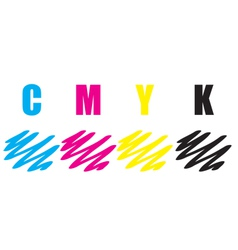 cmyk stroke vector image