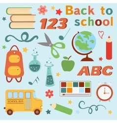Colorful back to school set vector image