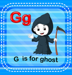 Flashcard letter g is for ghost vector