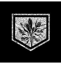 Floral logo 04 grunge vector