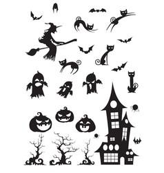 halloween blackwhite icon vector image vector image