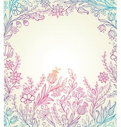 Hand drawn floral background vector image vector image
