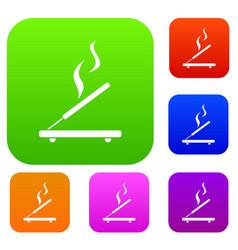 Incense sticks set collection vector