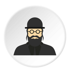 Jewish rabbi icon circle vector
