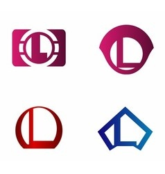 Letter L logo icon design template elements vector image